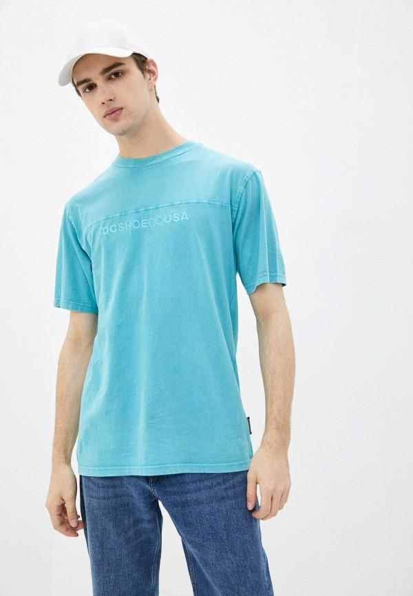 мужская спортивные футболка dc shoes, бирюзовая