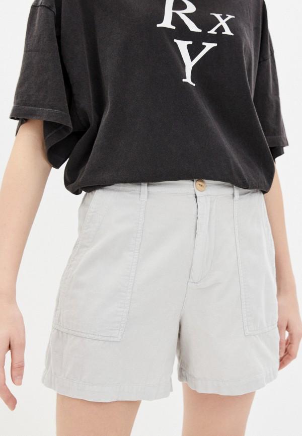 женские шорты quiksilver, серые