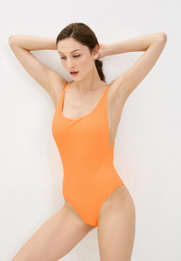 женский купальник quiksilver, оранжевый