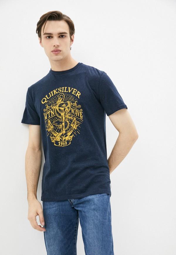мужская спортивные футболка quiksilver, синяя