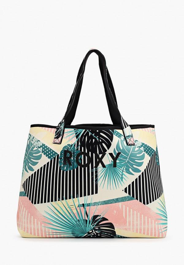 женская сумка-шоперы roxy, разноцветная