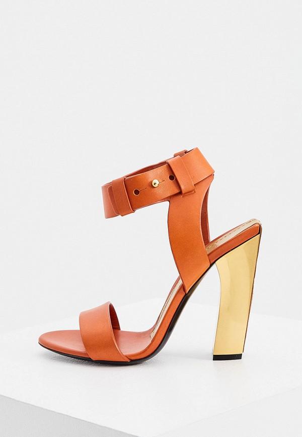 женские босоножки tom ford, оранжевые