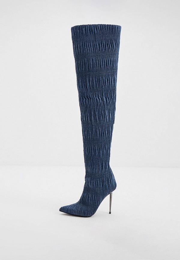 женские ботфорты tom ford, синие