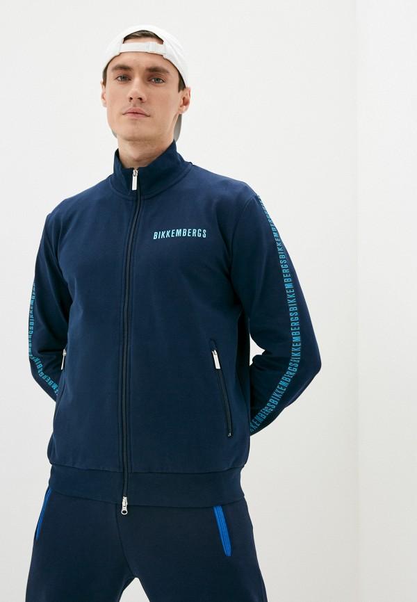 мужская олимпийка bikkembergs, синяя