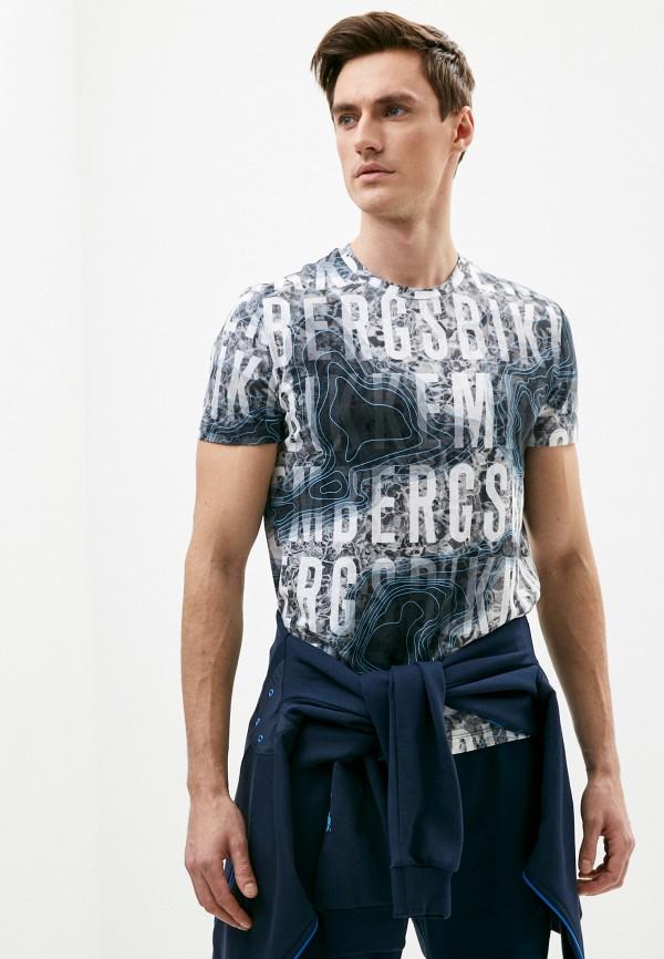 мужская футболка bikkembergs, серая
