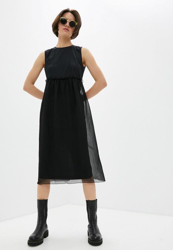 женское повседневные платье bikkembergs, черное