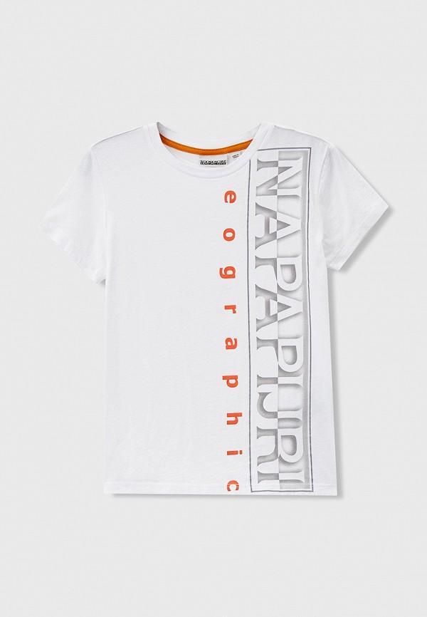 футболка с коротким рукавом napapijri для мальчика, белая