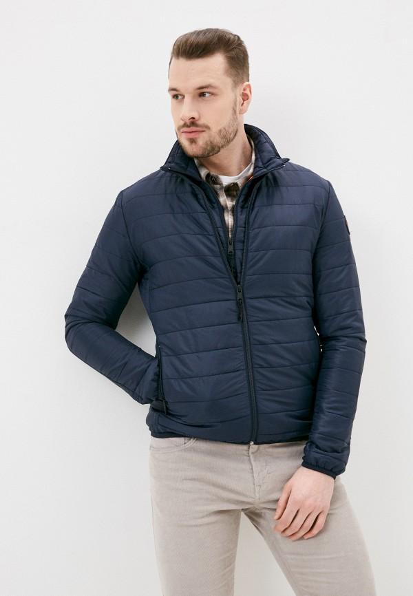 мужская утепленные куртка napapijri, синяя