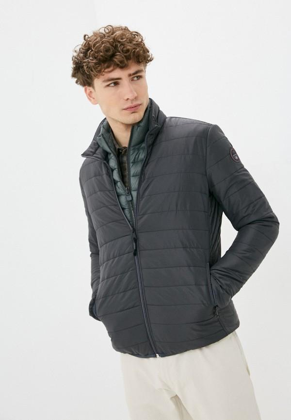 мужская утепленные куртка napapijri, черная