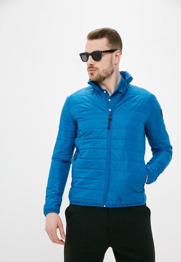 мужская утепленные куртка napapijri, бирюзовая