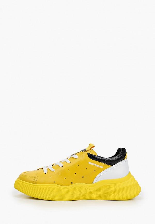 женские низкие кроссовки mcm, желтые
