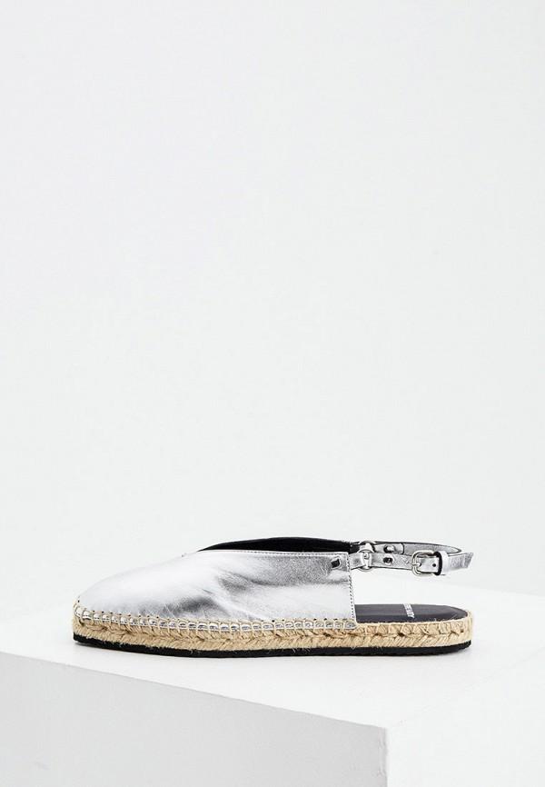 женские сандалии pierre hardy, серебряные