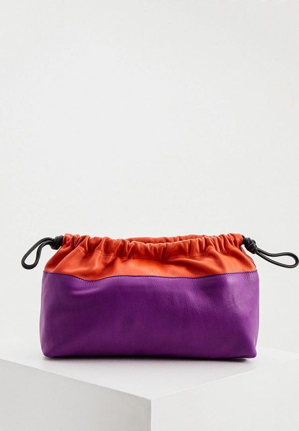женская сумка через плечо pierre hardy, фиолетовая