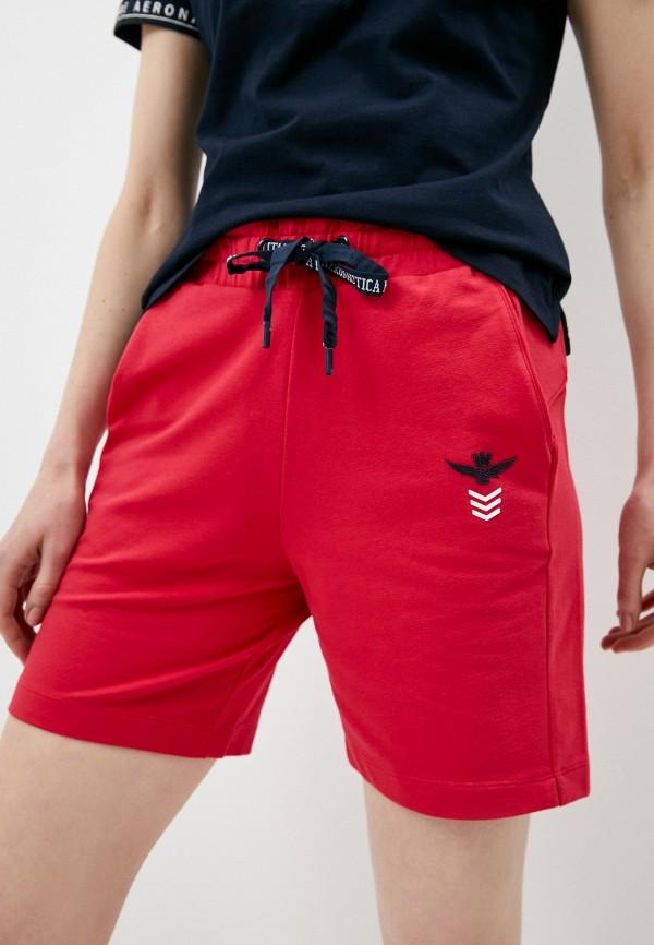 женские спортивные шорты aeronautica militare, розовые