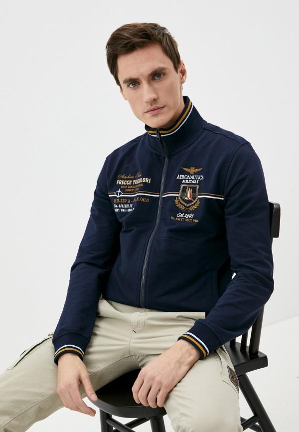 мужская олимпийка aeronautica militare, синяя