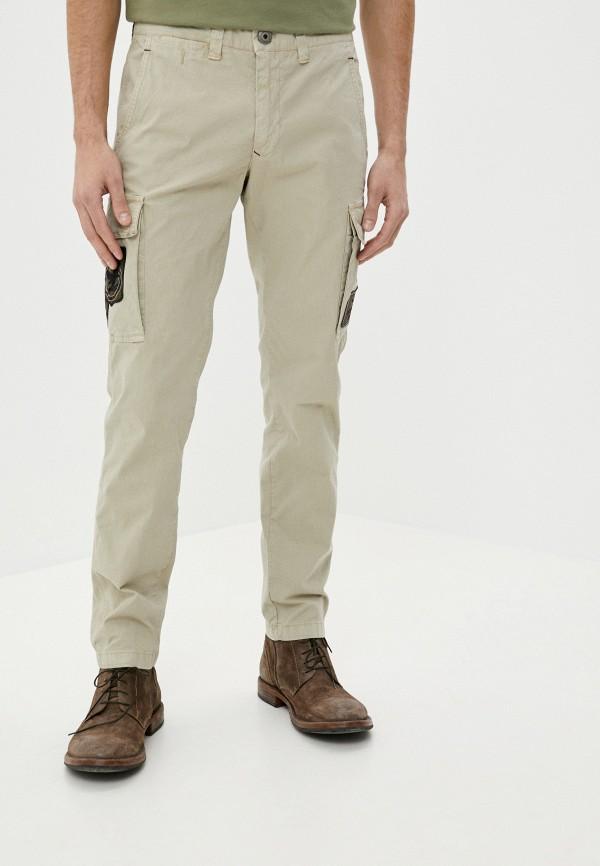 мужские повседневные брюки aeronautica militare, бежевые