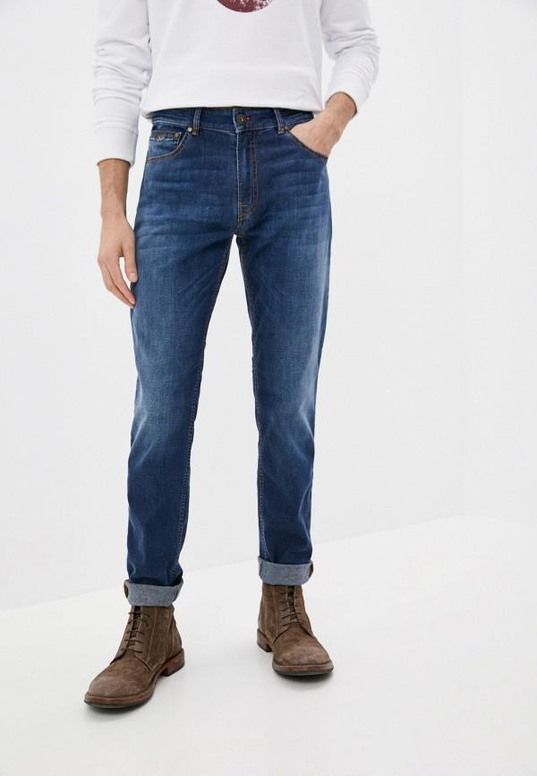 мужские зауженные джинсы aeronautica militare, синие