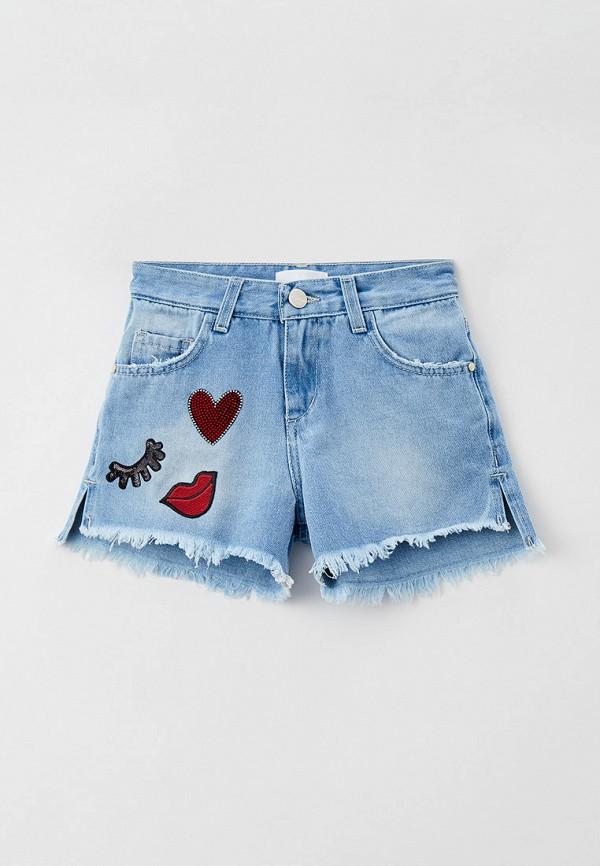 шорты byblos для девочки, голубые