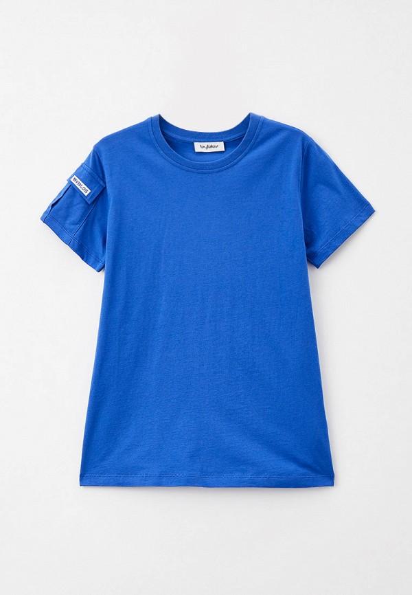 футболка с коротким рукавом byblos для мальчика, синяя