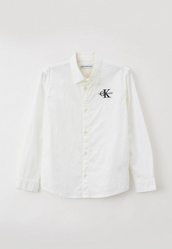 рубашка calvin klein для мальчика, белая