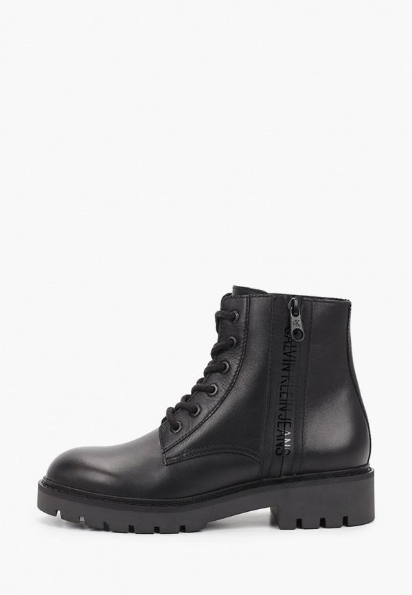 женские ботинки calvin klein, черные