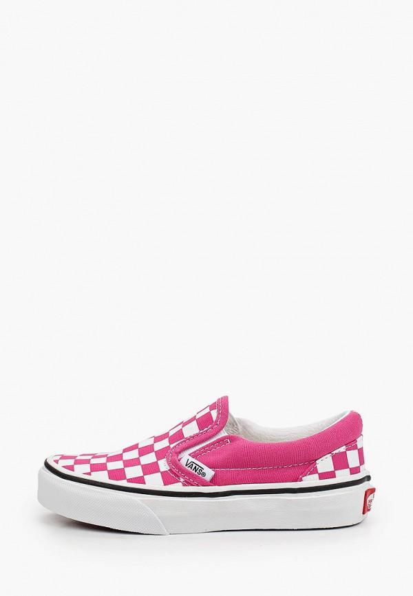слипоны vans малыши, розовые