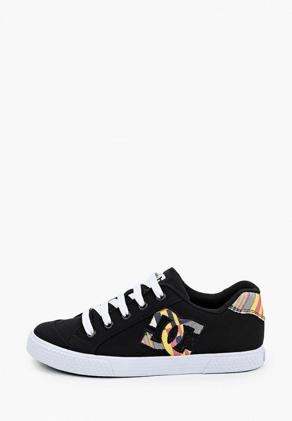 женские низкие кеды dc shoes, черные