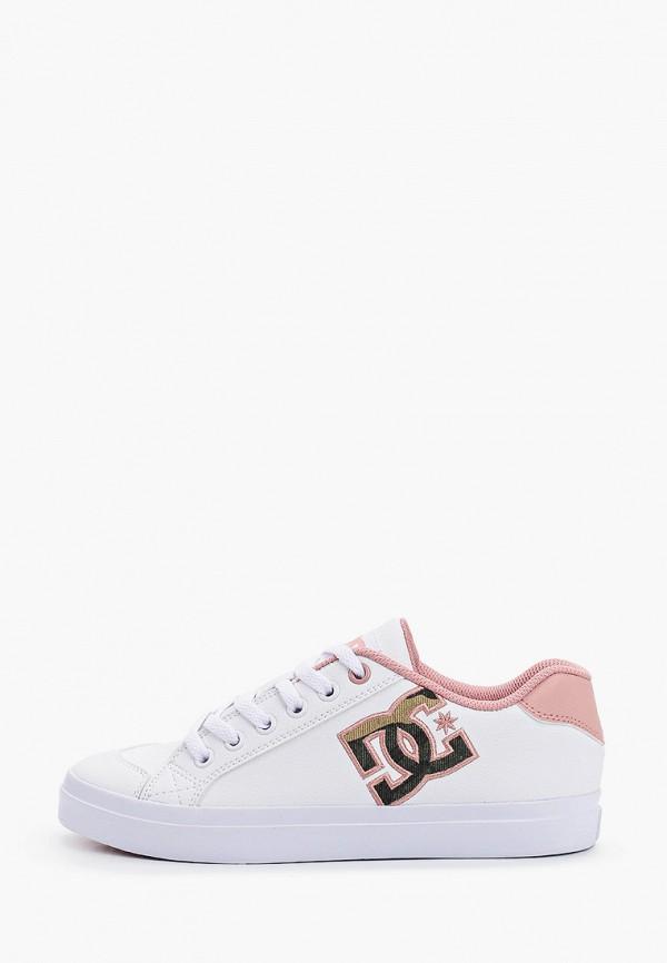женские низкие кеды dc shoes, белые