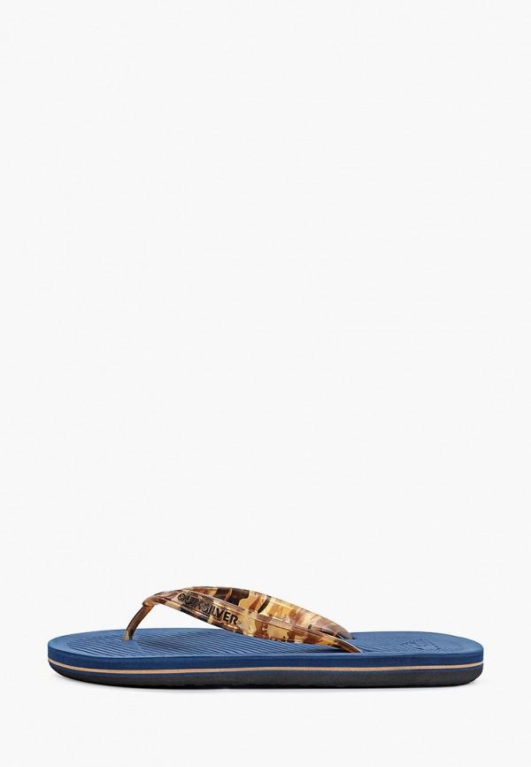 мужские сланцы quiksilver, коричневые