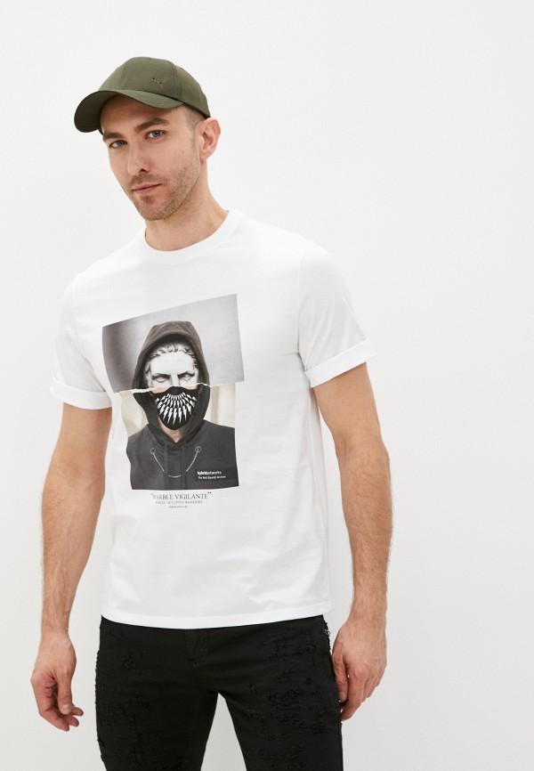 мужская футболка neil barrett, белая