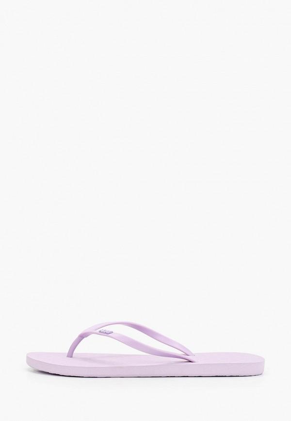 женские сланцы roxy, фиолетовые