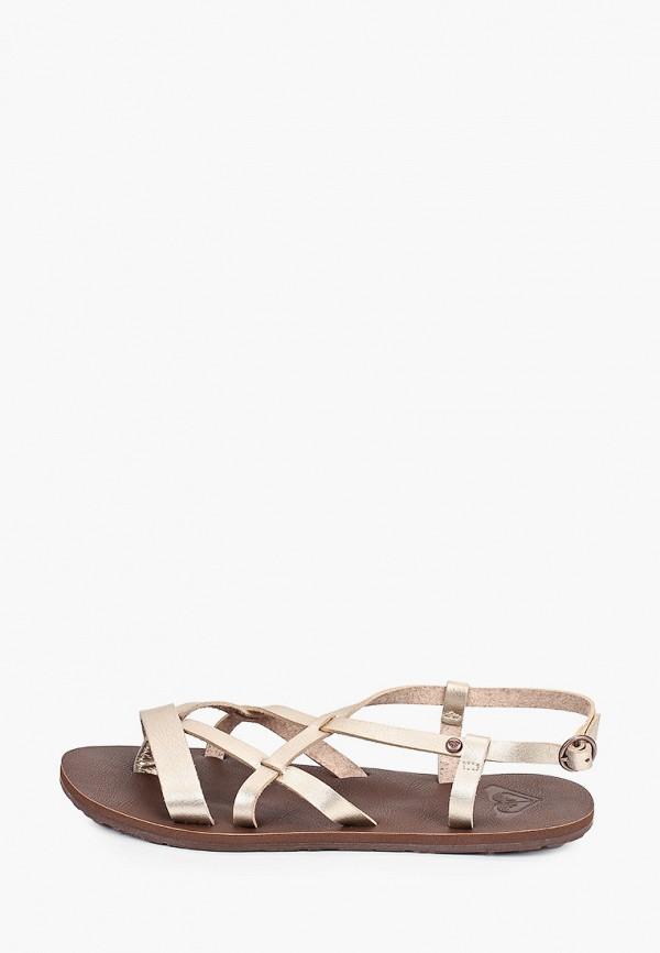 женские сандалии roxy, золотые