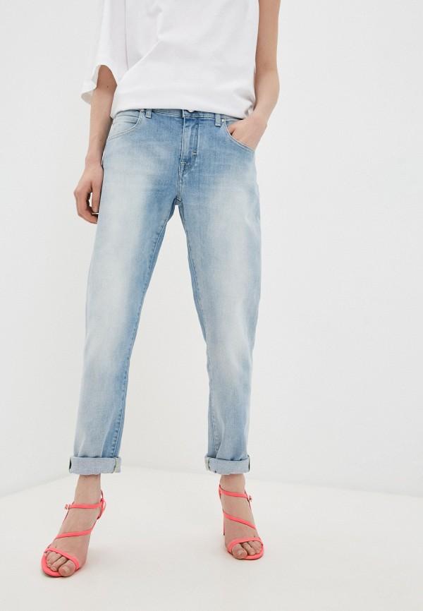 женские джинсы скинни jacob cohen, голубые