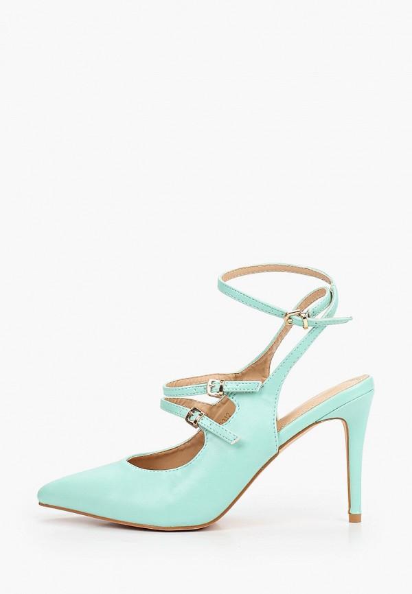 женские туфли givana, бирюзовые