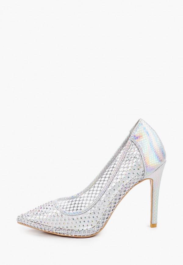 женские туфли-лодочки givana, серебряные