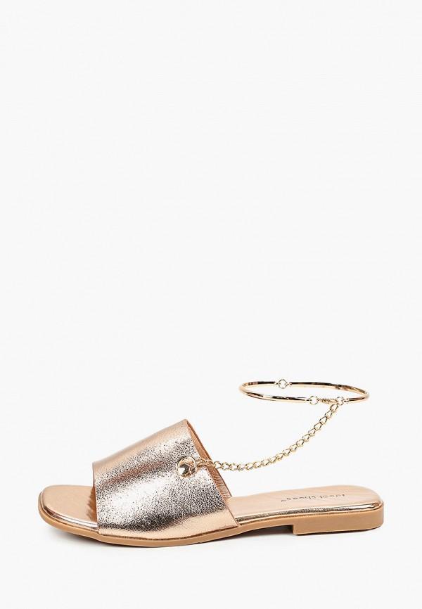 женские сандалии ideal shoes, золотые