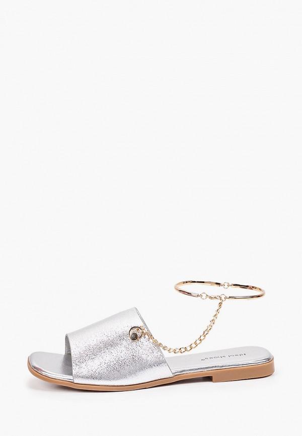 женские сандалии ideal shoes, серебряные
