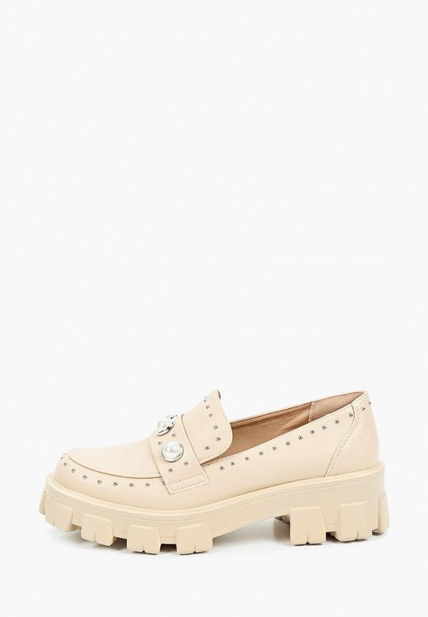 женские лоферы ideal shoes, бежевые