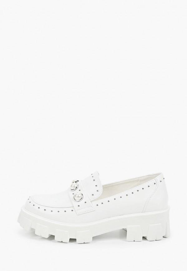 женские лоферы ideal shoes, белые