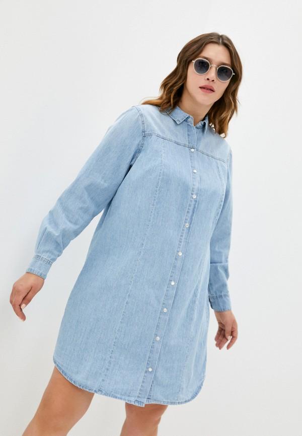 женское джинсовые платье zizzi, голубое