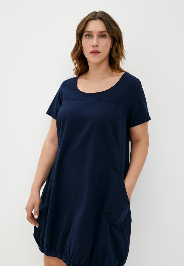 женское повседневные платье zizzi, синее
