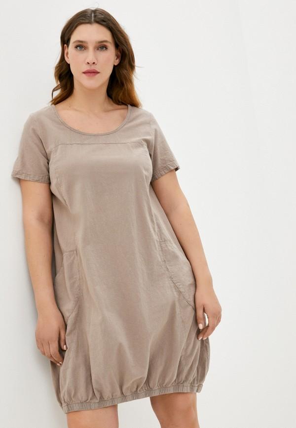 женское повседневные платье zizzi, бежевое