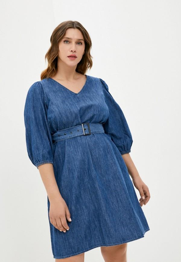 женское джинсовые платье zizzi, синее