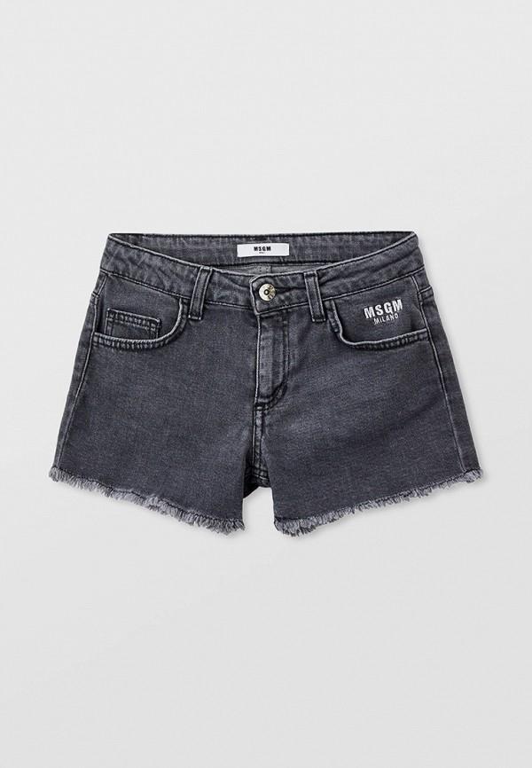 шорты msgm kids для девочки, серые