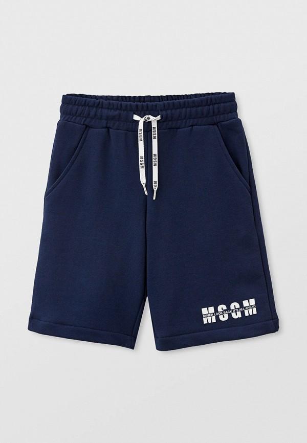 спортивные шорты msgm kids малыши, синие