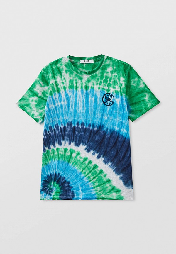 футболка с коротким рукавом msgm kids для мальчика, разноцветная