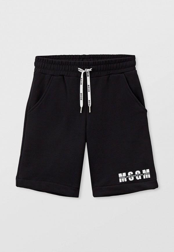 спортивные шорты msgm kids малыши, черные
