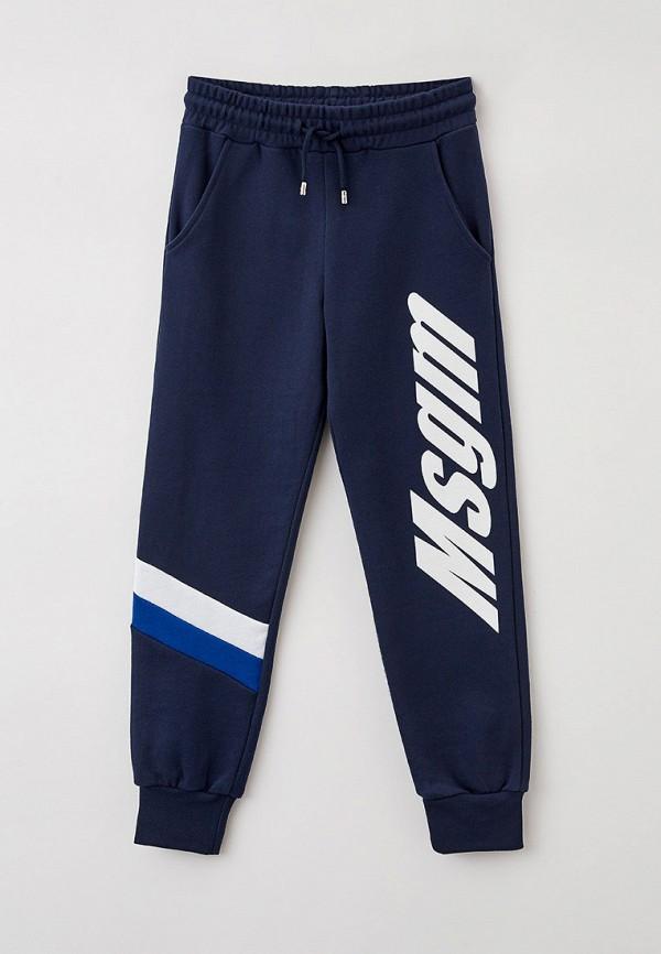 спортивные брюки msgm kids для мальчика, синие