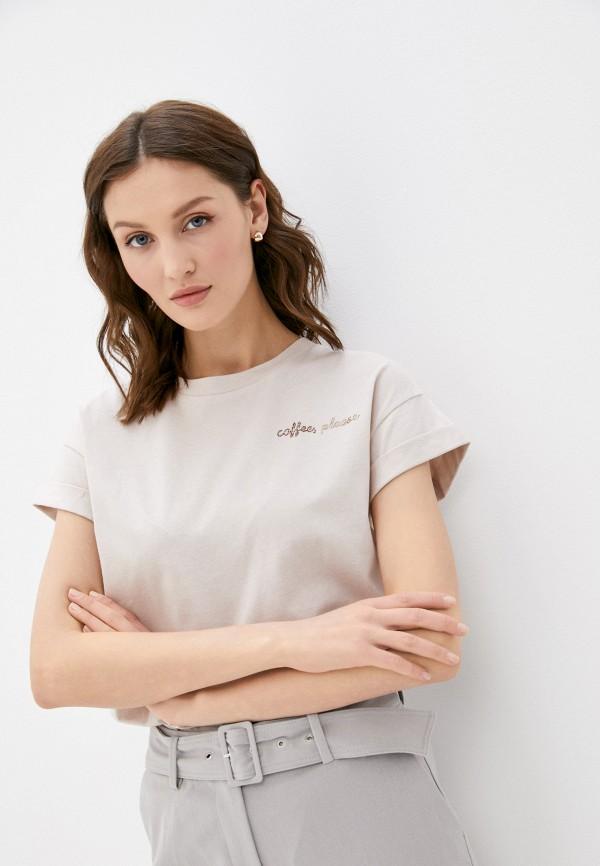 женская футболка rich&royal, бежевая