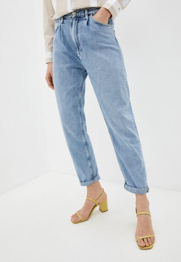 женские прямые джинсы rich&royal, голубые